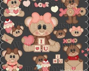 Beary Love CU Clipart