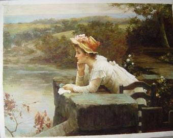 Custom original oil painting,photos to oil paintings,hand painted original art oil portrait painting on canvas,Girl portrait painting