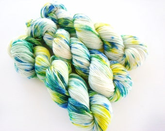 Hand Dyed Sock Yarn, Hand Dyed Wool, Speckled Sock Yarn, Speckled Dyed Yarn, Multicolor Dyed Wool, Wool Hand Dyed, Nylon Sock Yarn