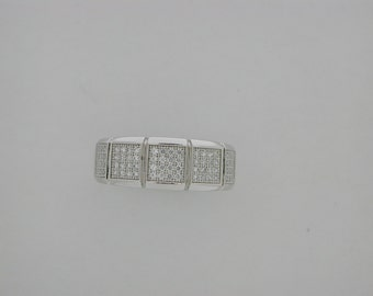 925 Sterling Silver Cubic Zirconia Stones Ring
