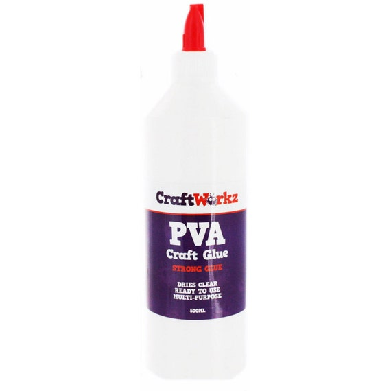 500ml pva craft glue clear drying for for Craft glue that dries clear