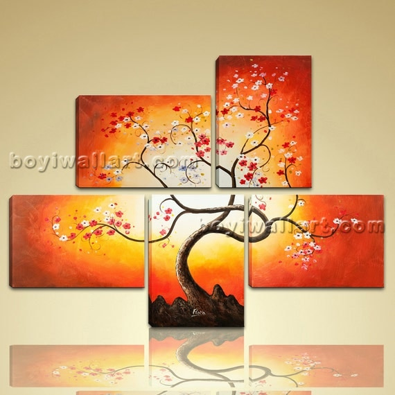 Large Giclee Print On Canvas Wall Art Blossom Tree Abstract
