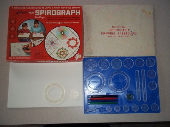 Vintage spirograph 1967 kenner 401 with paper by prodraftkits - Spirograph clock ...