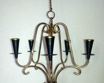 Scandinavian hanging Candelabra / Candle holders design Gunnar Ander Ystad metall Sweden 1960s.