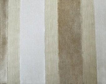 Modern Velvet Stripe Pearl Fabric