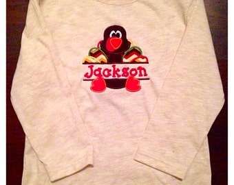 Applique Turkey Shirt with Name personalization