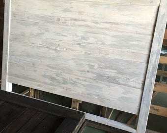 Cottage Chic White Washed Headboard