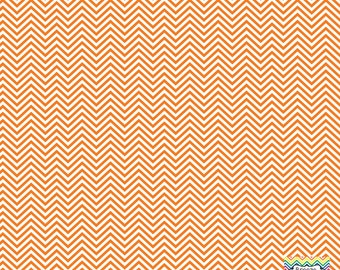 Orange and white mini chevron craft  vinyl sheet - HTV or Adhesive Vinyl -  zig zag pattern HTV1522