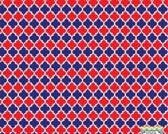 Navy and red quatrefoil craft  vinyl sheet - HTV or Adhesive Vinyl -  quarterfoil pattern HTV1431
