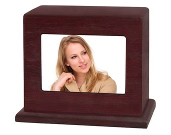 Rosewood Horizontal Photo Wood Cremation Urn