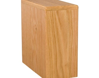 Oak Bookshelf Wood Cremation Urn
