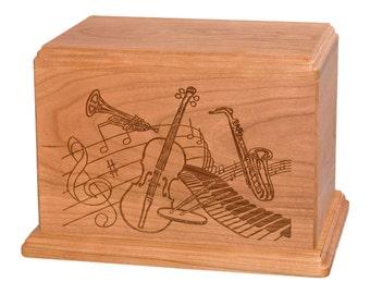 Cherry Music Wood Cremation Urn