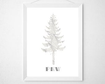 PNW Pacific Northwest | Wall Decor | INSTANT DOWNLOAD