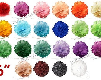 "1 2 5 pcs 6"" Tissue Paper Pom Pom Flower 22 Colors Can Choose Wedding Birthday Party"