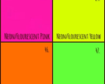 A4 Neon Fluorescent Coloured Paper Card 80gsm 160gsm Printer Paper