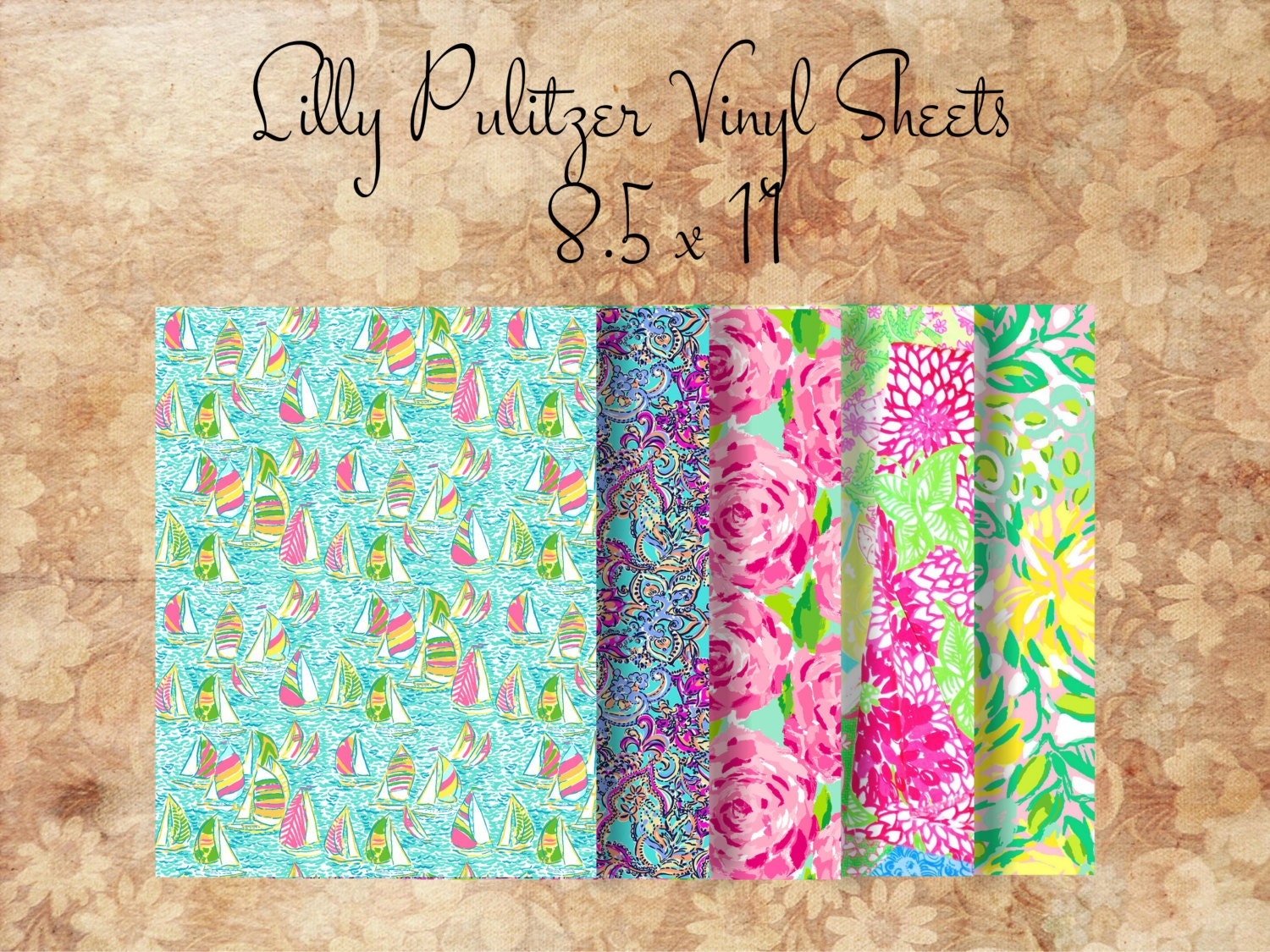 Lilly Pulitzer Vinyl Sheets 8 5 X 11 By Southernideology