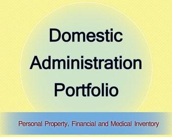 DA Portfolio Home Management Workbook - Flashdrive - 3 versions - Excel, Word, Pdf