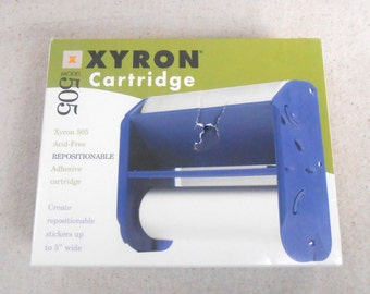 Xyron  5 inch wide Acid Free Repositionable Adhesive Cartridge fit model 505 and model 510 New in Box