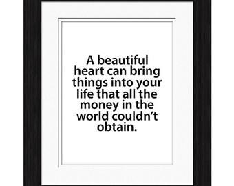 Beautiful Heart Affirmation