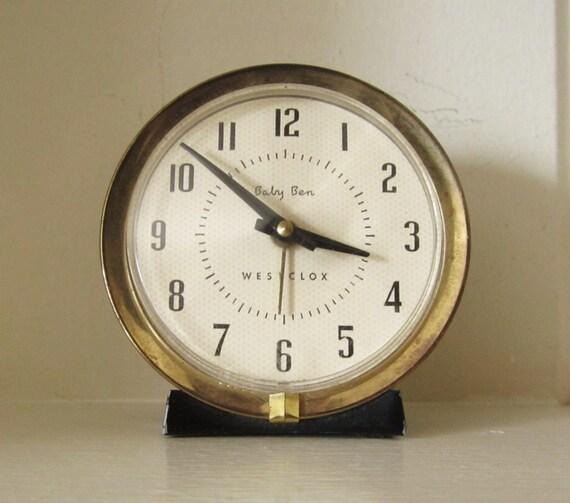 Vintage Westclox Baby Ben Wind Up Alarm Clock Lasalle Il