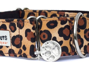 "Noddy & Sweets Adjustable Martingale Collar [1"", 1.5"", 2"" Leopard]"