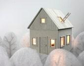 Set of 8 postcards; Floating House