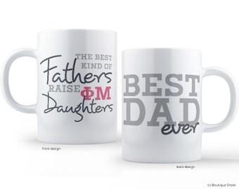 Phi Mu Best Dad Mug Sorority Father Mug