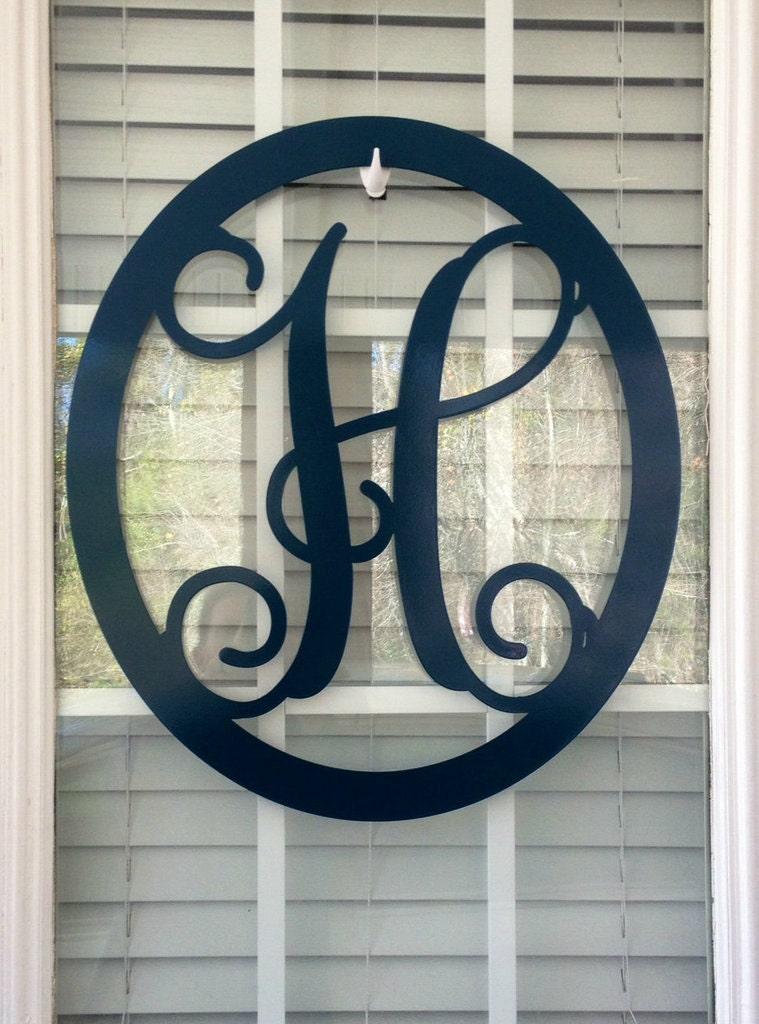 Metal Monogram Door Wreath 18 Monogram Door Hanger