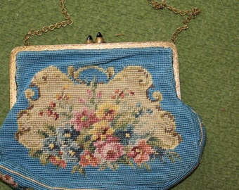 HALF PRICED SALE: Vintage Stitched Old Fantastic Small Purse, Decorative, Formal, Special Occasions, Could be a Clutch or Purse, Nice Price