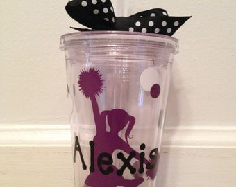 Personalized Cheerleader Tumbler