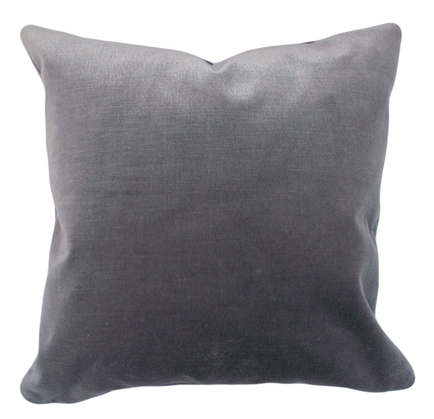 Grey Velvet Decorative Pillow Cover 12x20 14x24 18x18