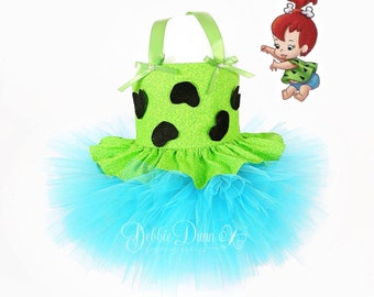 Pebbles TuTu Dress New two piece outfit 4T - 6T halloween costume
