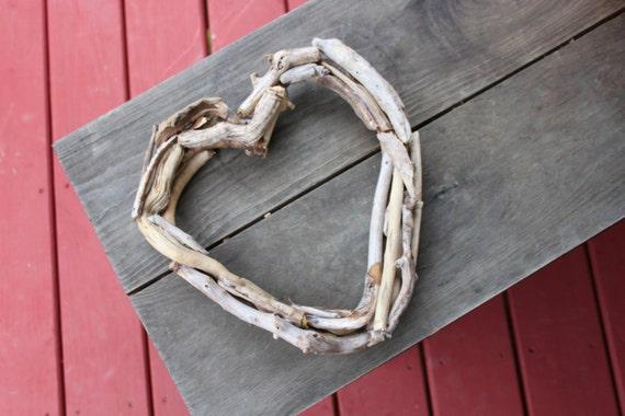 Coeur bois flott plage d cor naturel d cor bois flott for Couronne bois flotte