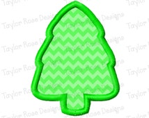 Tree Outline Applique Machine Embroidery Design 3x3 4x4 5x7 6x10 Christmas INSTANT DOWNLOAD