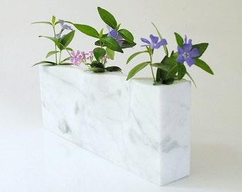 Simplicity in White Marble Minimalist Vase Trendy Vase Modern Marble Art Vase Contemporary Marble Sculpture Decorative White Vase Ikebana