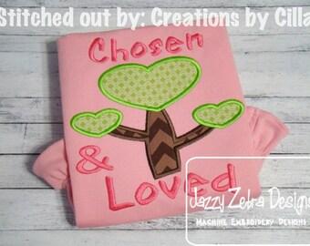 Adoption Heart Tree Embroidery Design
