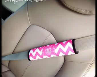 Seat Belt Cover, Monogrammed Car Accessories for Women,  Monogrammed Seat Belt Cover, Cute Car Accessories, Custom Car Accessory