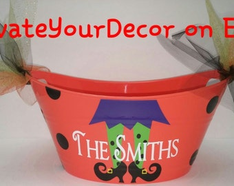 Personalized Halloween Candy Bowl Bucket *QuickShip*