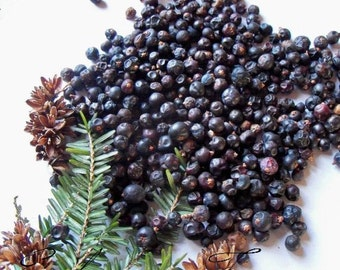 DRIED JUNIPER BERRIES - 1 Pound - Herbs Organic Natural Wiccan Potpourri Soap Making Potions Botanical