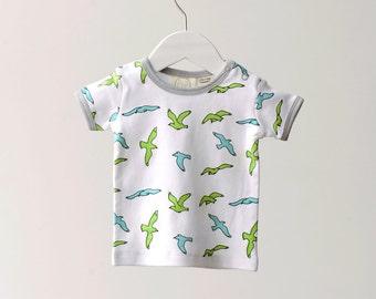 Seagulls organic T shirt