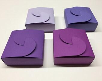 Purple Favor Boxes Purple Favors Purple Wedding Favor Boxes Purple Favor Box Purple Favour Boxes Favour Box
