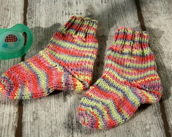 Pink newborn clothes knitted baby socks newborn girl pink socks clothes baby