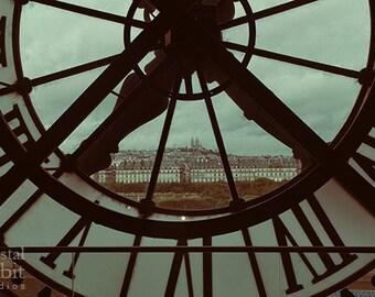 Paris Photography, Musée d'Orsay Clock, Paris Print, Paris Photo, Retro, Vintage Decor, Large Wall Art