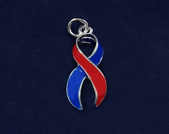 Large Red & Blue Ribbon Charm (RETAIL) (RE-CHARM-01-33)