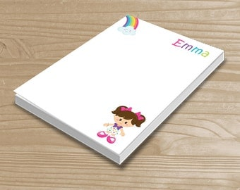 Personalized Kids' Notepad - Rainbow Notepad for Girls - Rainbow Note Pad - Custom Rainbow Girl Notepad with Name - 3 Sizes Available