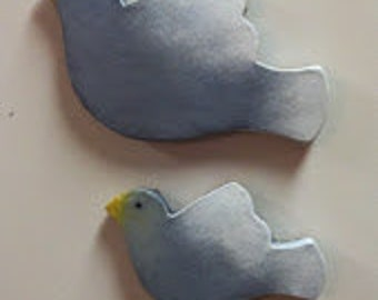 Set of Two Bird Magnets