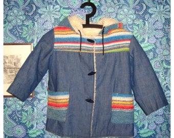 Kids Southwestern Denim Jacket
