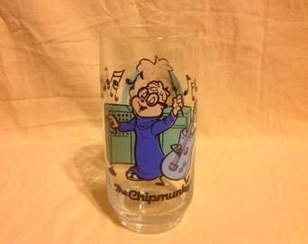 1985 Chipmunks Simon Glass........Never Used....Off Collection Shelf