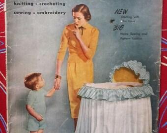 Vintage 1951 Modern Needlecraft Magazine - Instructions & Tips- Sewing, Fitting, Ideas, Ads