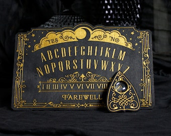 Mini Lunar Filigree Spirit Board - Ouija Board